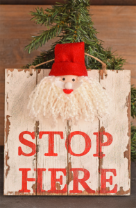 DIY Santa Stop Here Sign AD