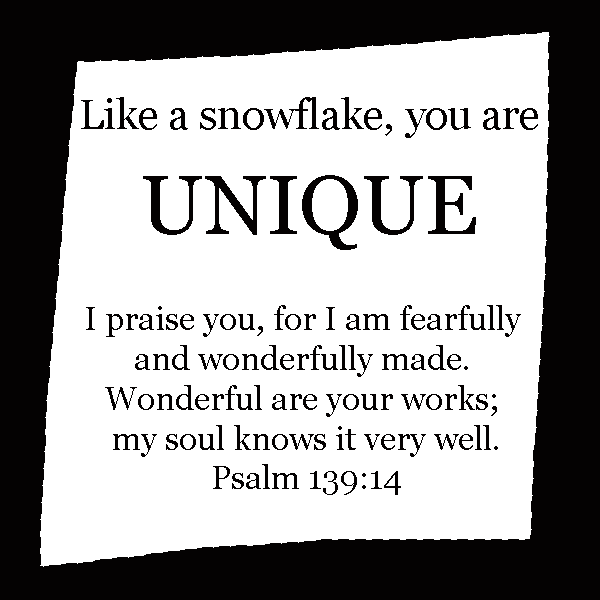 Fearfully and Wonderfully Made Snowflake Craft