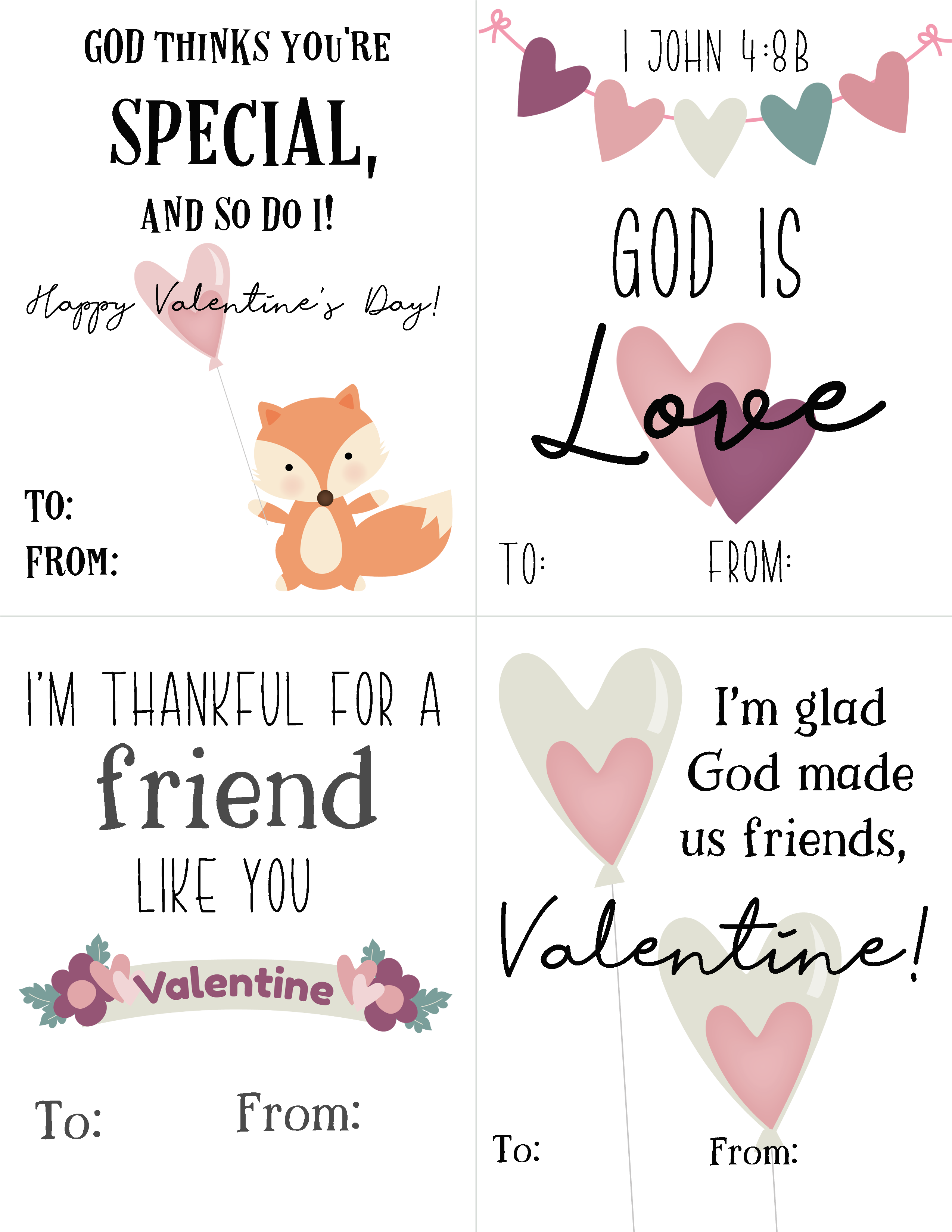 Bible Based Valentines for Kids