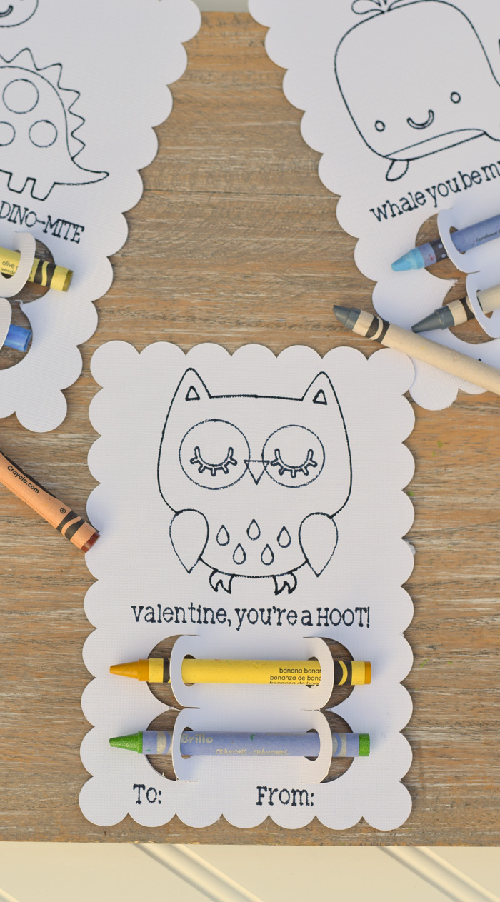 DIY Crayon Classroom Valentines with Cricut Explore Air 2 and card stock