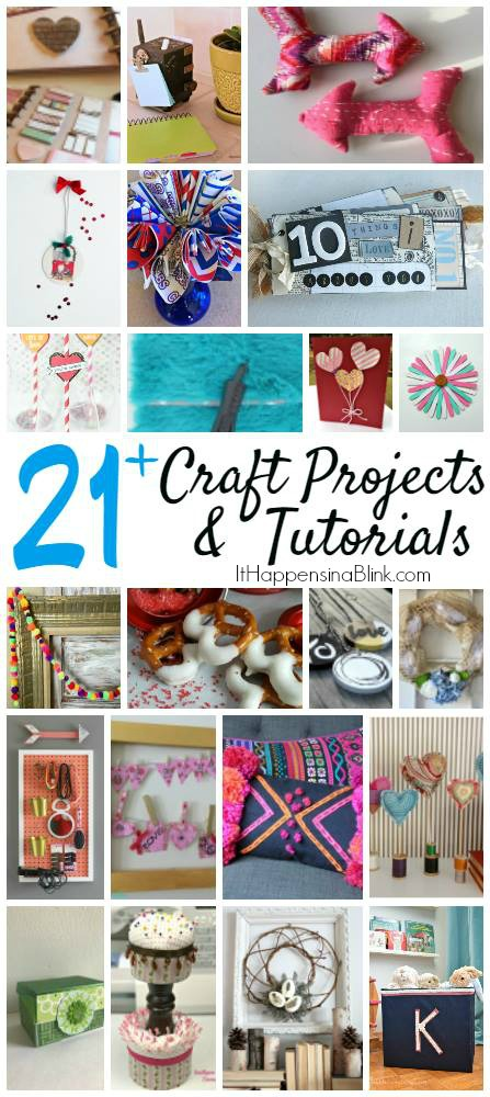 21 Craft Ideas Using Items from a Craft Stash