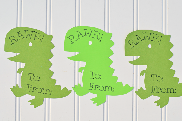 Dinosaur Classroom Valentines with Cricut