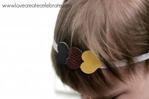 Leather Heart Handband by Love Create Celebrate