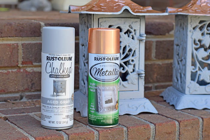 Project with chalked spray paint AD