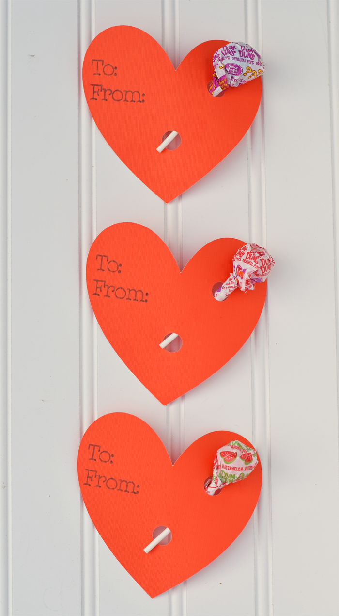 Easy Heart Lollipop Holder Valentines with the Cricut Explore Air 2