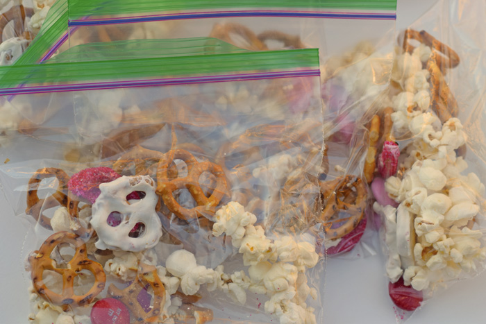 Easy Valentine's Day Snack Mix for a Large Group, children's church, Awana group, and more!