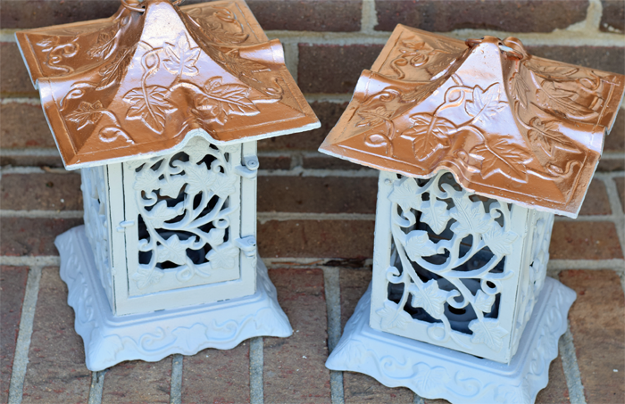 Use spray paint to upcycle an estate sale find.  AD