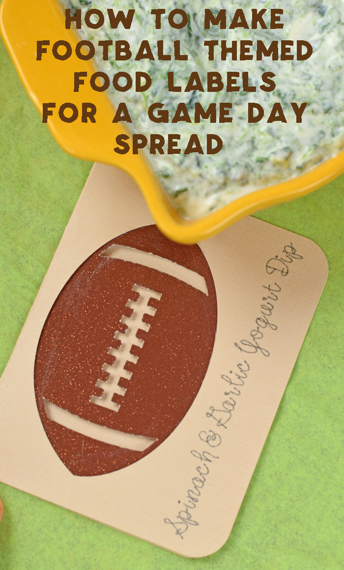 How to Make Football Themed Food Labels for a Game Day Spread with the Cricut Explore Air machine AD