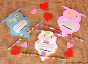 Owl Valentines with Cricut