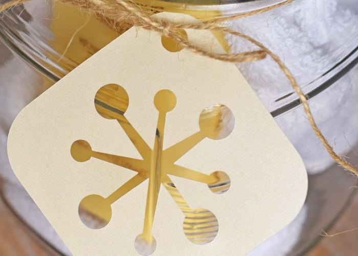 Skincare Gift Jar (with Snowflake Tag)