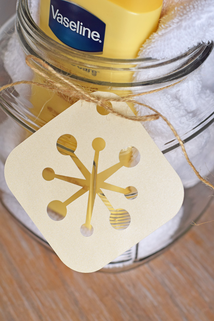 Skincare Gift Jar (with Snowflake Tag) AD