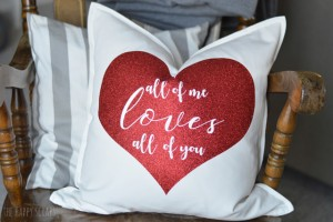 Valentine's Day Pillow by The Happy Scraps
