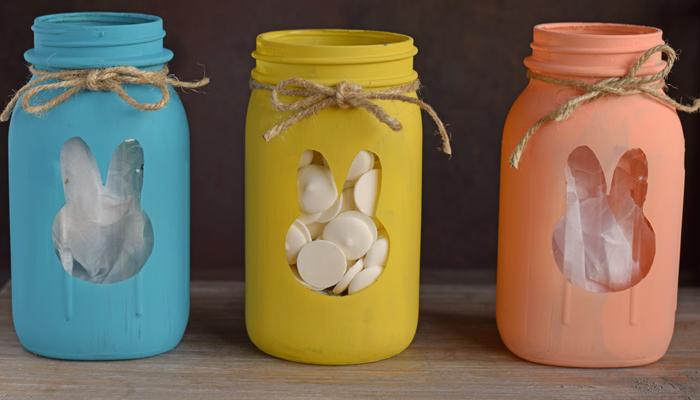 Easter Bunny Mason Jars