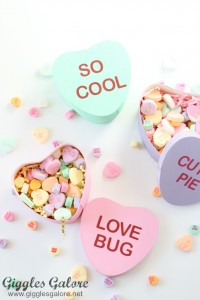 DIY Conversation Heart Boxes from Giggles Galore