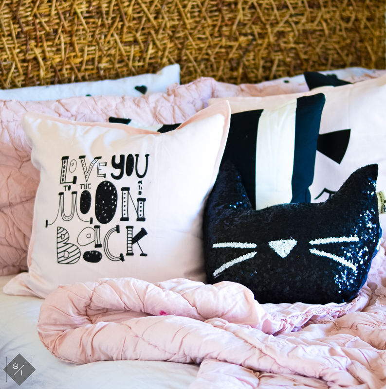 Pillows made with the Cricut Explore