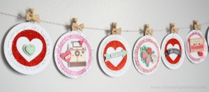 Valentine Banner from Artsy Fartsy Mama