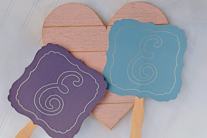 DIY Wedding Hand Fans with Cricut AD
