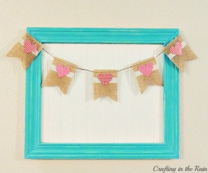 Burlap Heart Banner from Crafting in the Rain