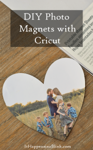 DIY Photo Magnets with Cricut