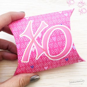 Hugs and Kisses Pillow Box from 100 Directions
