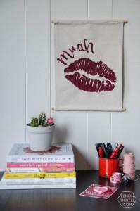 DIY Valentines Banner from Lemon Thistle