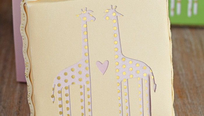 Giraffe Baby Shower Gift Boxes with Cricut