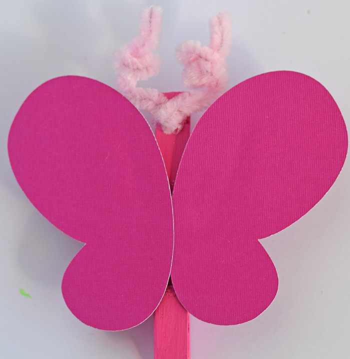 DIY Butterfly Magnet Clip kid's craft for spring or Easter