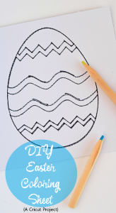 DIY Easter Egg Coloring Sheet