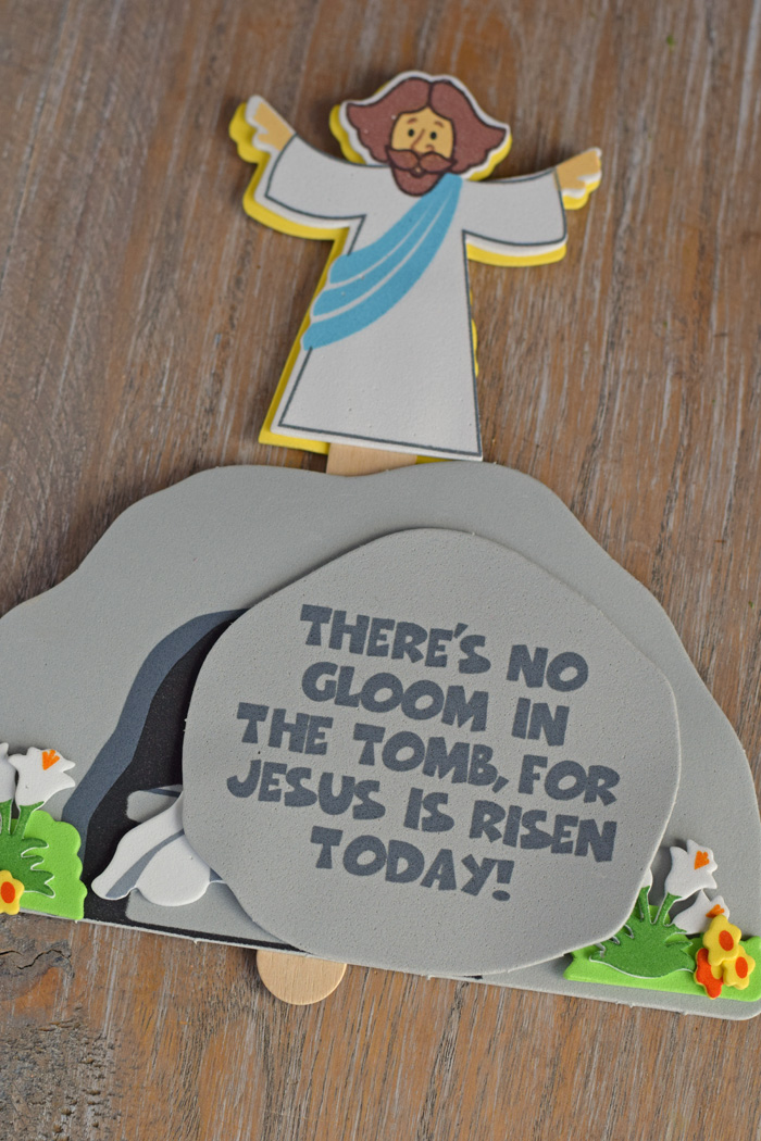 Jesus and the Tomb Craft for Kids AD