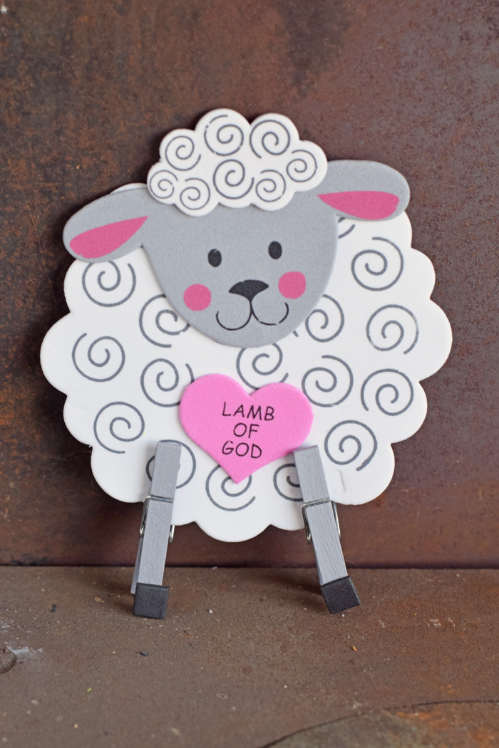 Easter Sheep Craft for Kids AD