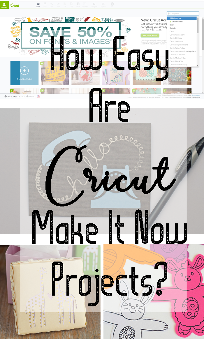 How Easy Are Cricut Make It Now Projects AD