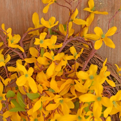 Spring Forsythia Wreath craft tutorial AD