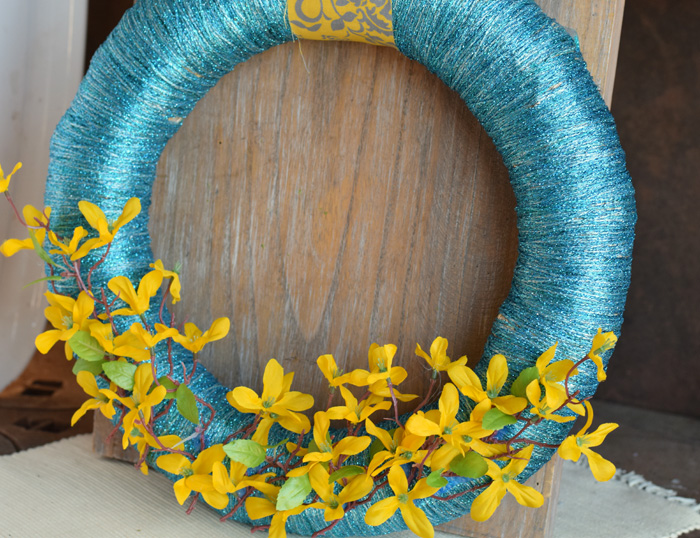 Yarn Wrapped Spring Wreath  AD