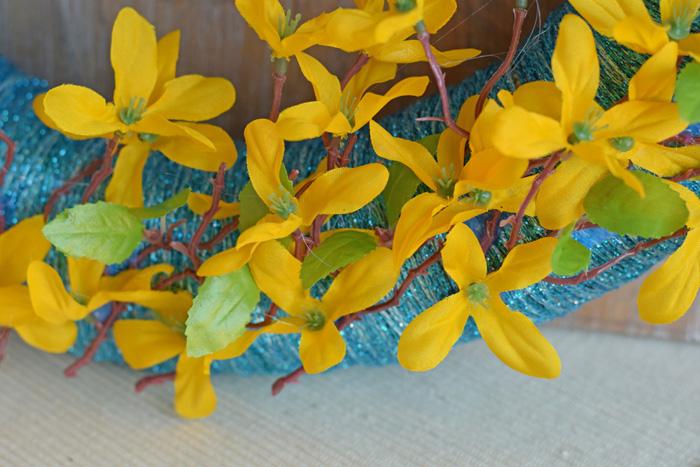 Yarn Wrapped Spring Wreath  AD