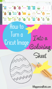 How to Use a Cricut Image to Make a Coloring Page