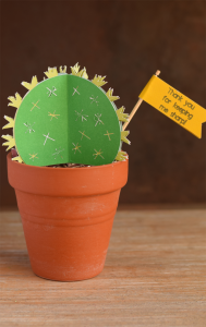 Cactus Teacher Appreciation Craft made with the Cricut Explore Air 2