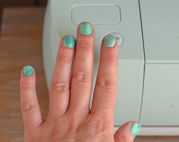 Washi Sheet Temporary Nails with Cricut AD