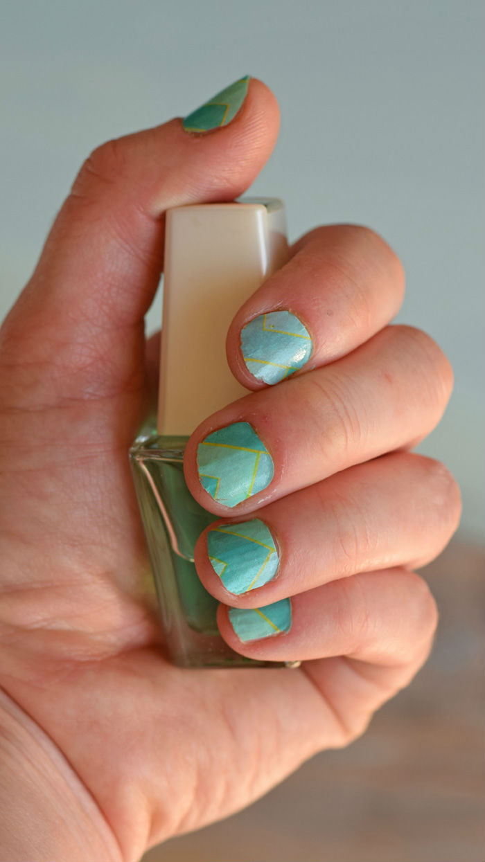 Washi Sheet Temporary Nails with Cricut AD