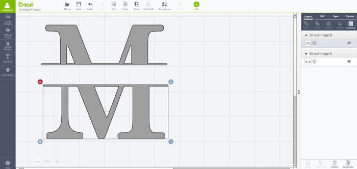 How to Make a Split Level Monogram in Cricut Design Space