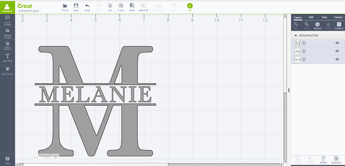 How To Make A Split Level Monogram In Cricut Design Space