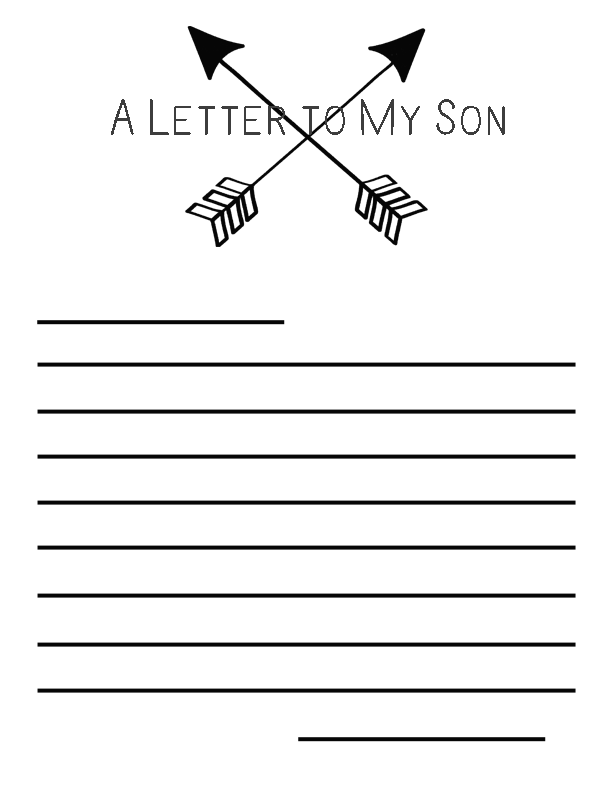 A Letter to my Son Free Printable AD