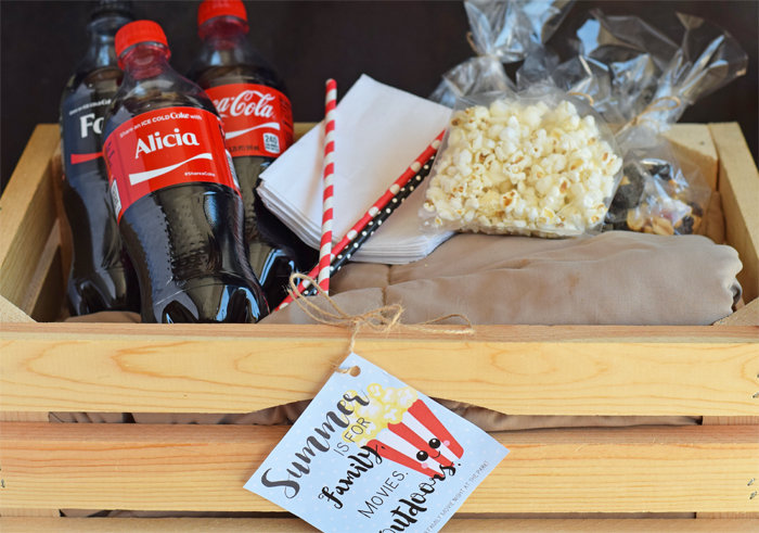 Packing or Creating a Gift Basket for Movie Nights in the Park AD