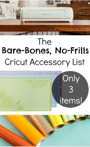 The Bare-Bones, No-Frills Cricut Accessory List