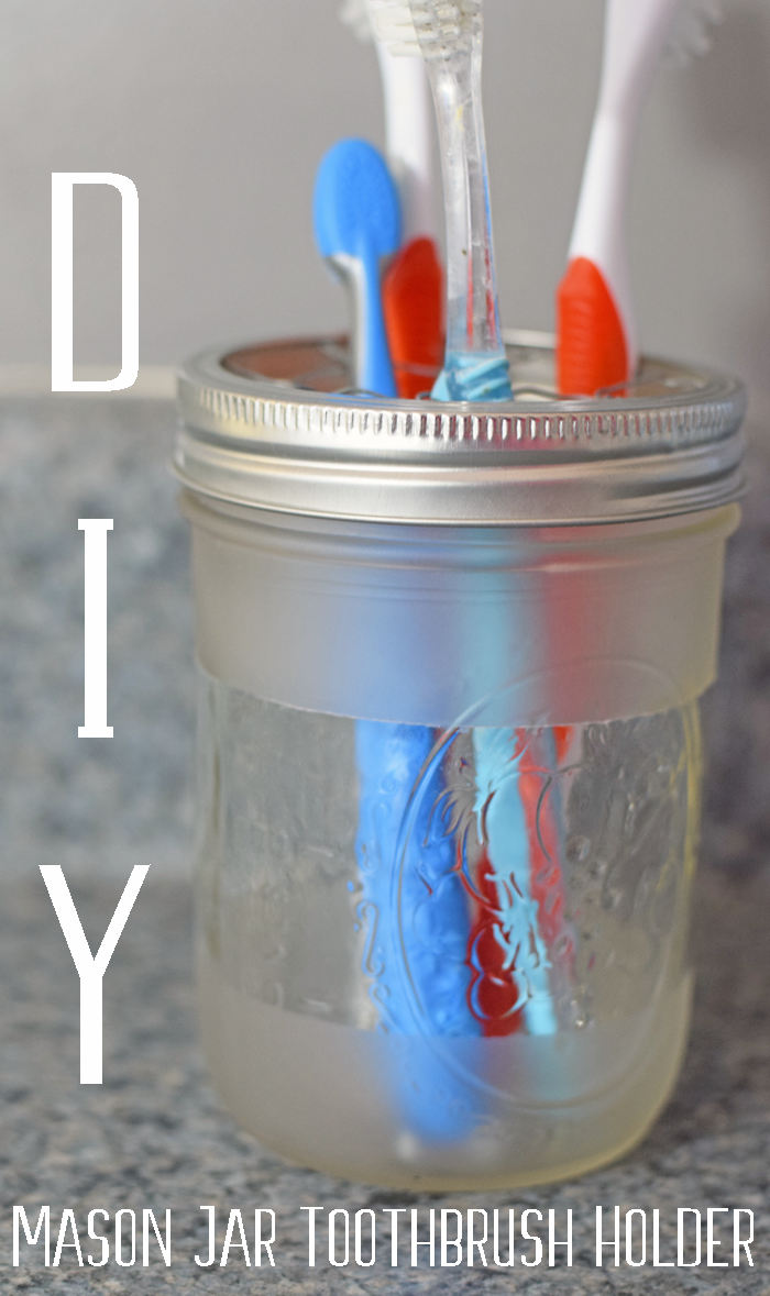 DIY Mason Jar Toothbrush Holder AD