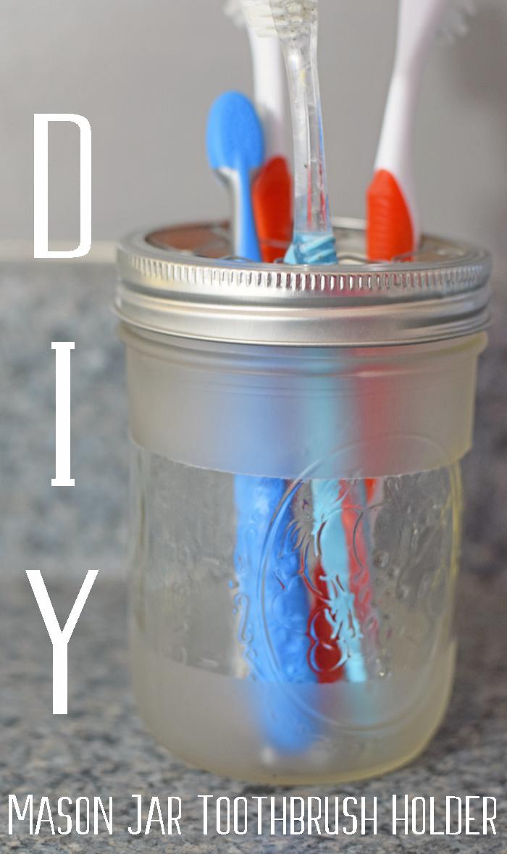 DIY Mason Jar Toothbrush Holder AD