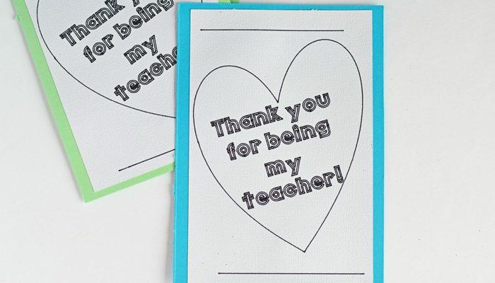 Colorable Teacher Appreciation Card