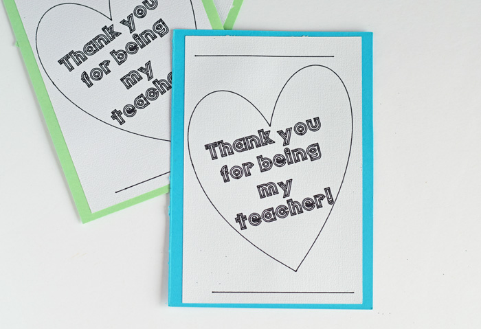 Colorable Teacher Appreciation Card made with the Cricut Explore Air