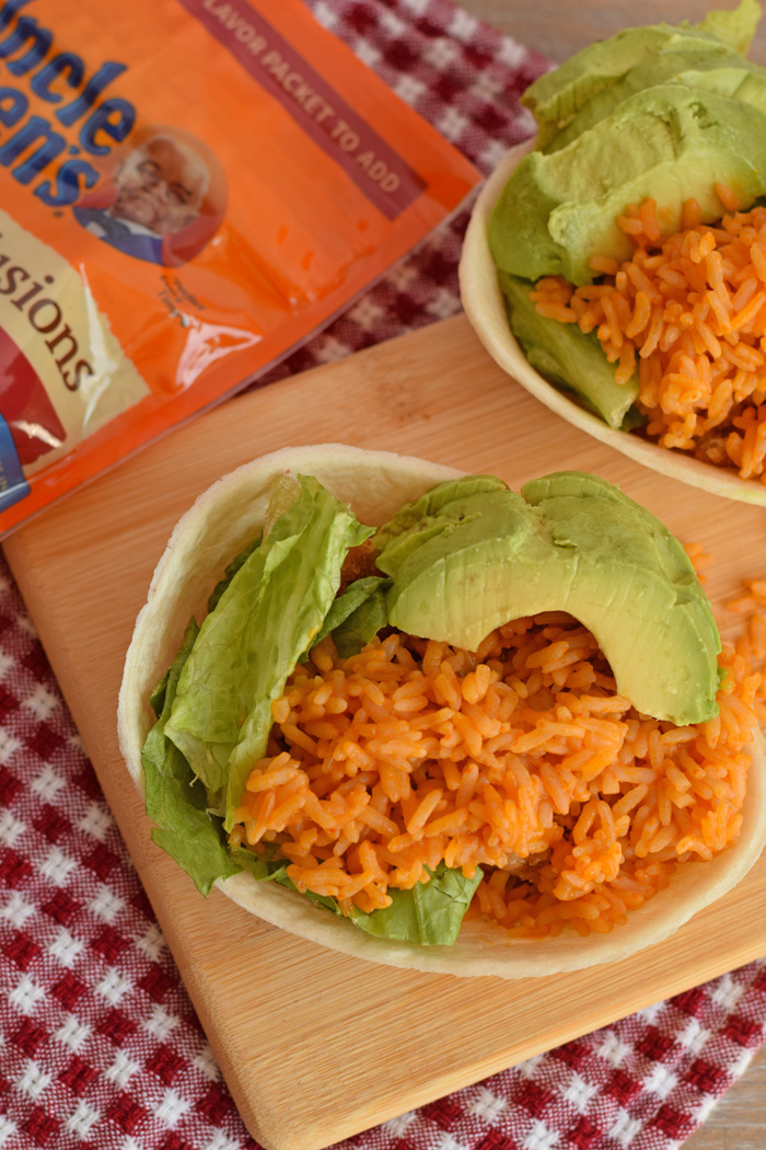 Easy Chicken and Rice Tacos AD