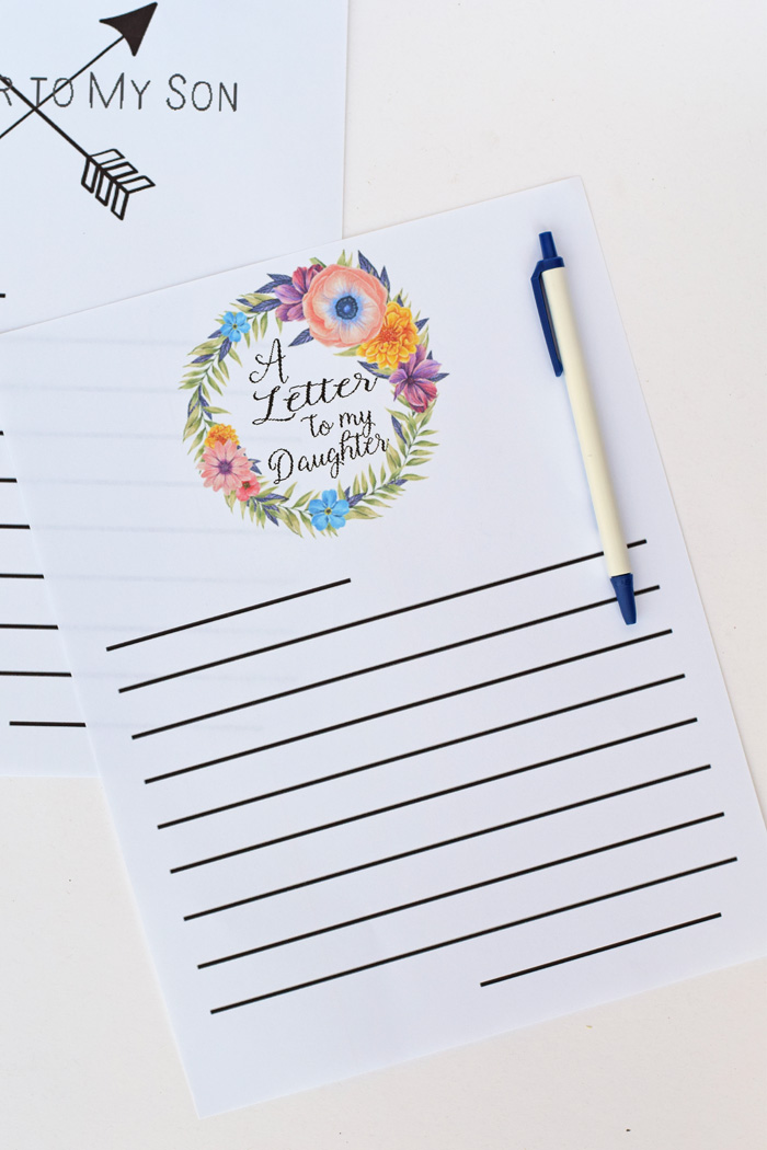 A Letter to my Daughter Free Printable AD