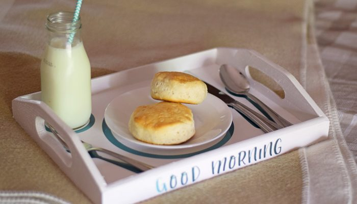 Breakfast in Bed Tray with Cricut